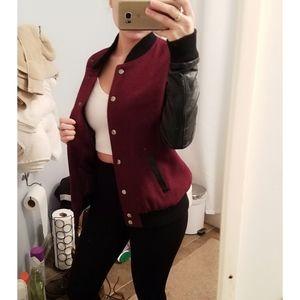 Varsity button up jacket